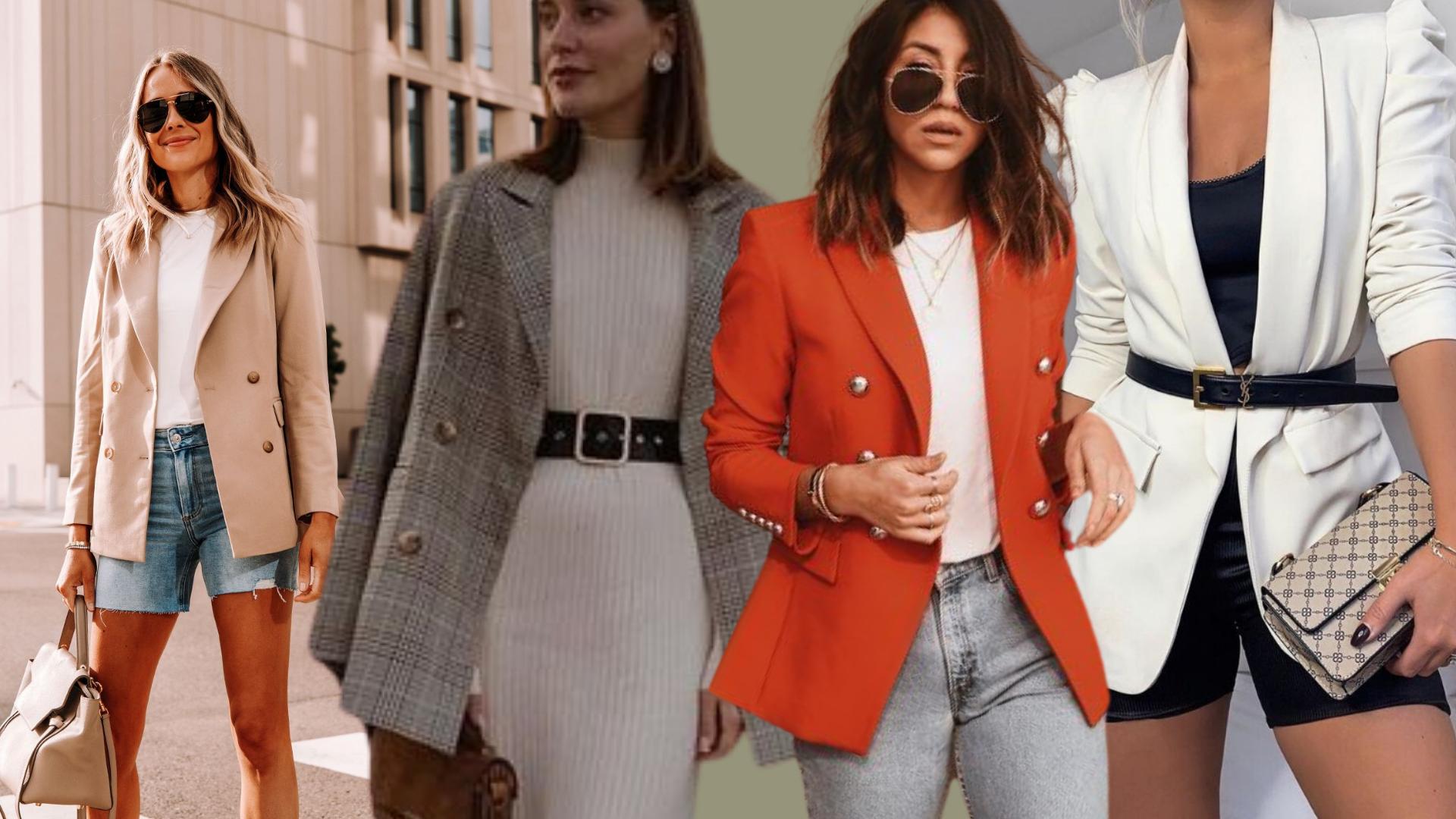 4 maneiras diferente de usar blazer